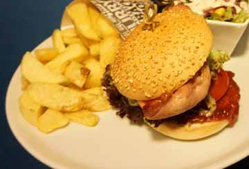 Geaney's Classic Homemade Burger at Paul Geaney's Bar & Restaurant Dingle