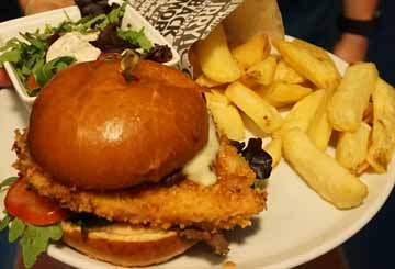 Chicken Burger at Paul Geaney's Bar & Restaurant Dingle