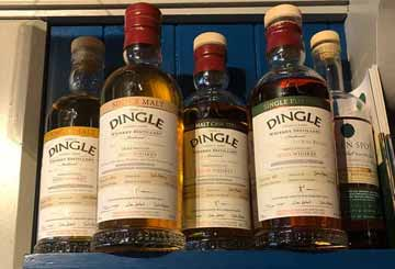 Dingle Distillery Whiskey at Paul Geaney's Bar & Restaurant Dingle Wild Atlantic Way