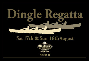 Dingle Regatta Ad Paul Geaney's Bar & Restaurant Dingle Wild Atlantic Way