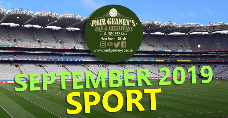September 2019 Line Up at Paul Geaney's Bar & Restaurant Dingle Wild Atlantic Way