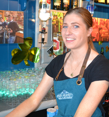 Team Picture Waitress Aoife at Paul Geaney's Bar & Restaurant Dingle Wild Atlantic Way.