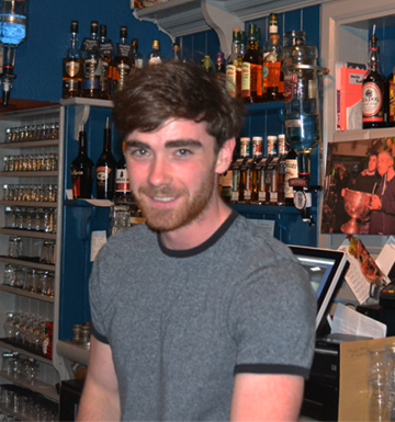 Team Picture Barman Gavin at Paul Geaney's Bar & Restaurant Dingle Wild Atlantic Way.