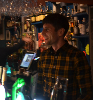 Team Picture Barman Paul at Paul Geaney's Bar & Restaurant Dingle Wild Atlantic Way.